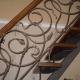 Лестница с коваными элементами