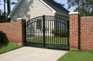 ворота в частный дом