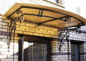 козырек для окна металл и поликарбонат фото 71