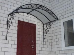 простой козырек для входной двери фото 14