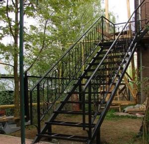 лестница сварная внешняя на второй этаж