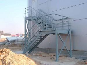 противопожарная сварная лестница