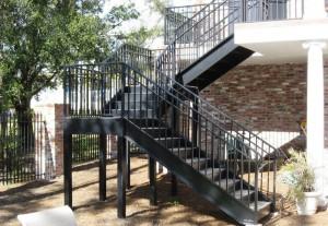 внешняя сварная лестница под заказ