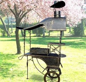 мангал с крышей на колесах купить киев