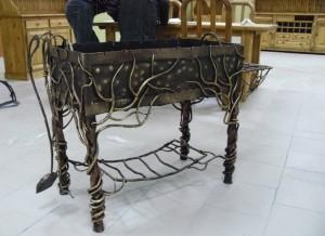 мангал с художественной ковкой