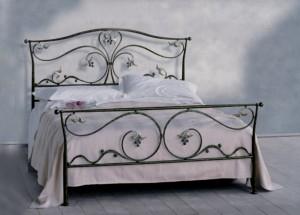 кровать металлическая поуторная ковка