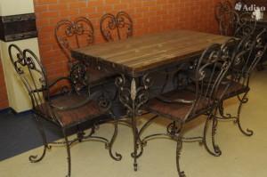 кованая мебель для дачи стул и стулья