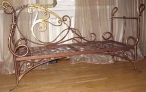 кованая кровать под медь