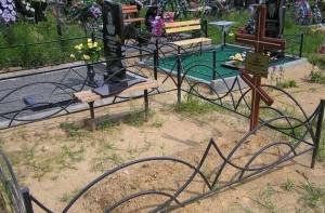 ограда на кладбище недорогая с установкой