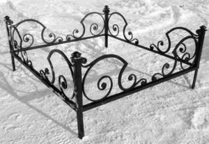 оградка готовая на кладбище недорогая