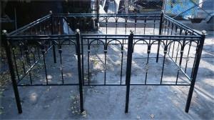 кованая оградка на кладбище от производителя под заказ