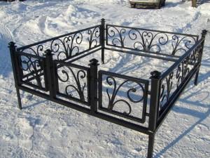 оградка на могилу с установкой недорого