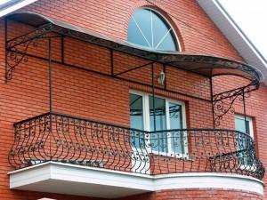 кованое ограждение балкона и террасы под заказ