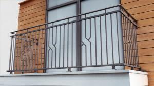 металлические ограждения для балконов в Киеве