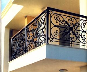 ограждение металлическое кованое для балкона
