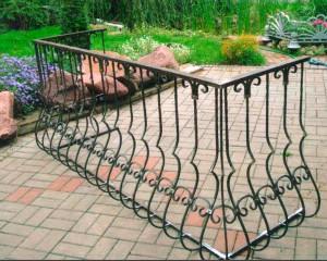 граждение для балкона кованое луковица