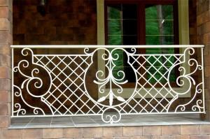 ограждение для балкона кованое белое