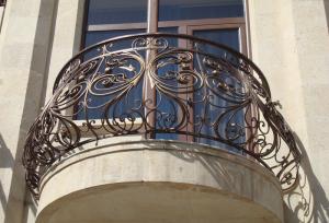 кованое ограждение для французского балкона