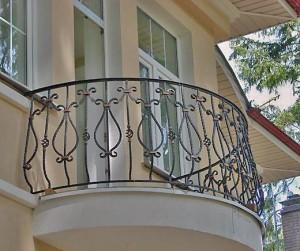ограждение для полукруглого балкона