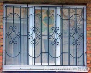 изящные кованые решетки на окна