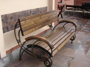 парковая тяжелая скамейка от производителя