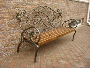 скамейка садовая хужожественная ковка