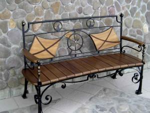 эксклюзивная кованая скамейка, можно купить в киеве