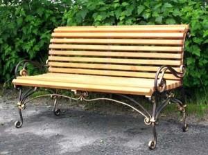 садовая кованая скамейка. купить в киеве у нас