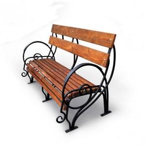 кованая скамейка для частного дома