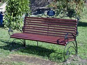 скамейка со спинкой для сада и дачи