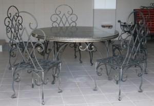 кованые столы и стулья в киеве от производителя