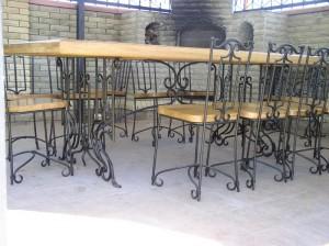 кованые столы и стулья от производителя в киеве