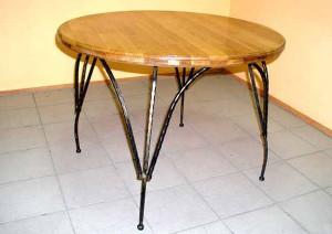 стол обеденный дерево металл от производителя