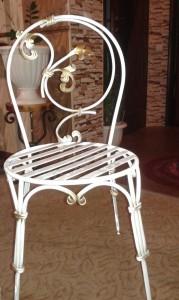 кованые стулья белые в наличии