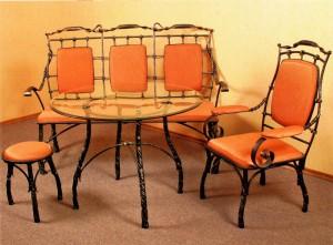 кованый стол обеденный стул, диван, банкетка ковка