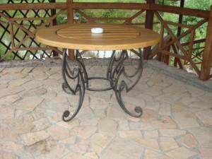 стол обеденный дерево ковка в киеве