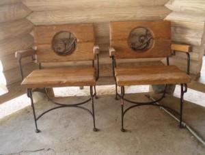 кресла ковка дерево металл