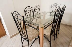 кованый стол и стулья с высокими спинками купить в киеве