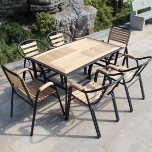 стол и 6 стульев для дачи дерево металл