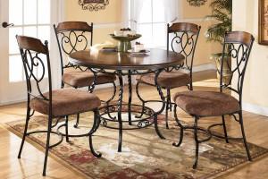 стол и стулья обеденные металл дерево