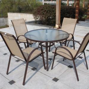 металлический стол и 4 стула комплект