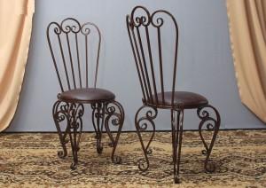 кованые мягкие стулья