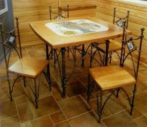 столи кованые стулья на дачу