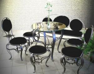 столы, стулья табуретки кованые
