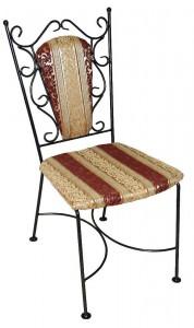 кованый стул с ообивкой