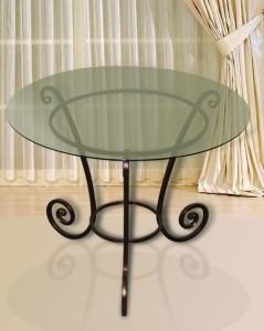 кованый журнальный столик со стеклом