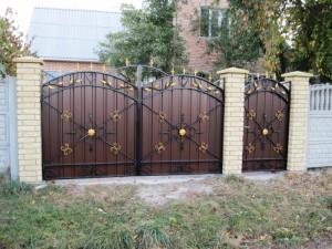 ворота с калиткой металлические