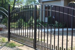 ворота простые металлические для дачи