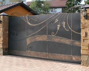откатные оригинальные ворота