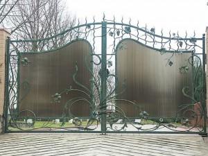 ворота для дома художественная ковка